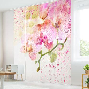 Tende scorrevoli set - Watercolour Flowers Orchids