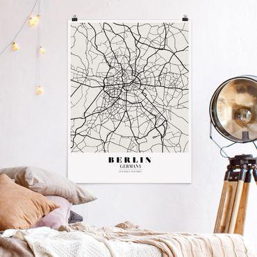 Poster - Mappa Berlino - Classic - Verticale 4:3