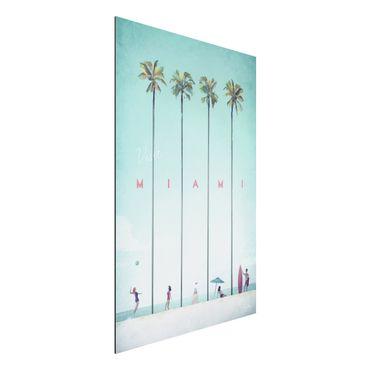 Stampa su alluminio - Poster viaggio - Miami - Verticale 3:2