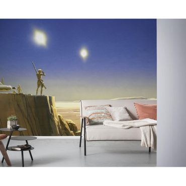 Carta da parati per bambini - Star Wars Classic RMQ Mos Eisley Edge - Komar fotomurale
