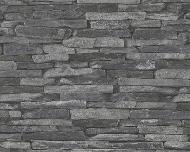 Carta da parati - A.S. Création Best of Wood`n Stone 2nd Edition in Grigio Nero