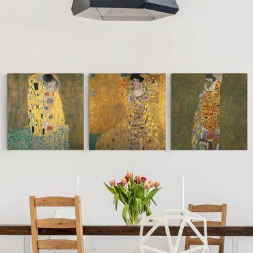 Stampa su tela 3 parti - Gustav Klimt - Ritratti - Quadrato 1:1