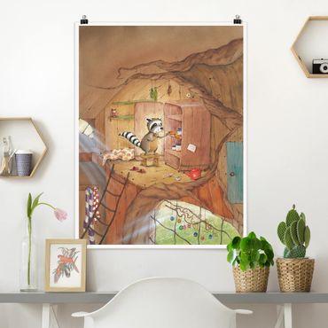 Poster - Procione Wassili - Wassili sull'armadio della cucina