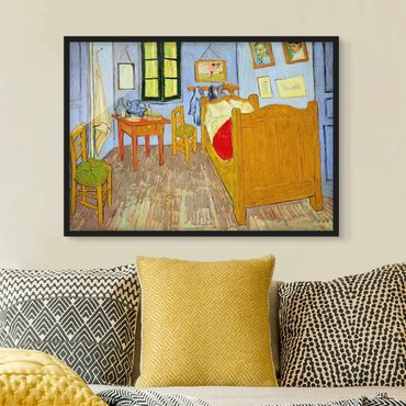 Poster con cornice - Vincent Van Gogh - Bedroom In Arles - Orizzontale 3:4