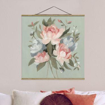 Foto su tessuto da parete con bastone - Mazzo in Pastel I - Quadrato 1:1