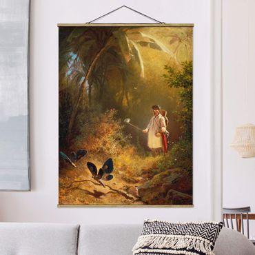 Foto su tessuto da parete con bastone - Carl Spitzweg - The Butterfly Hunter - Verticale 4:3