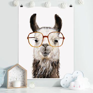 Poster - Hip Lama con i vetri IV - Verticale 4:3