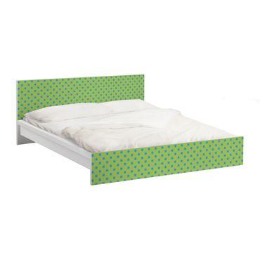 Carta adesiva per mobili IKEA - Malm Letto basso 160x200cm No.DS92 Dot Design Girly Green