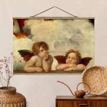 Foto su tessuto da parete con bastone - Raphael - due angeli - Orizzontale 2:3