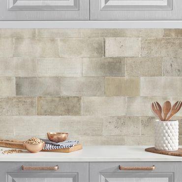 Rivestimento cucina - Muro in mattoni di cemento