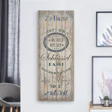 Stampa su legno - Casa è qui - Verticale 5:2