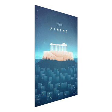 Stampa su Forex - Poster di viaggio - Atene - Verticale 3:2