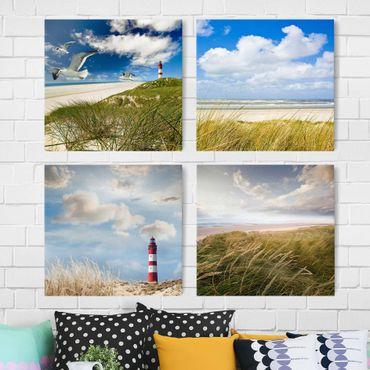 Stampa su tela 4 parti - dune dreams