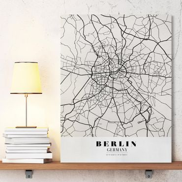 Stampa su tela - Berlin City Map - Classic - Verticale 3:4