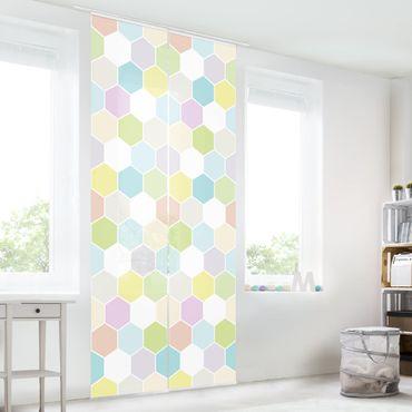 Tende scorrevoli set - No.Yk52 Hexagon Pastel