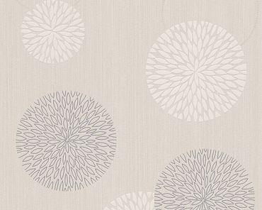 Carta da parati - A.S. Création Best of Vlies in Beige Crema Metalizzato