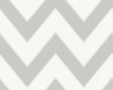 Carta da parati - Michalsky Living High Rise in Grigio Bianco