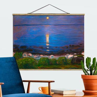 Foto su tessuto da parete con bastone - Edvard Munch - Summer Night On The Sea Beach - Orizzontale 3:4