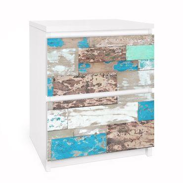 Carta adesiva per mobili IKEA - Malm Cassettiera 2xCassetti - Maritime Planks