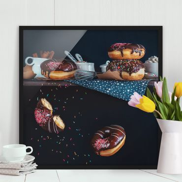 Poster con cornice - Donuts From The Kitchen Shelf - Quadrato 1:1