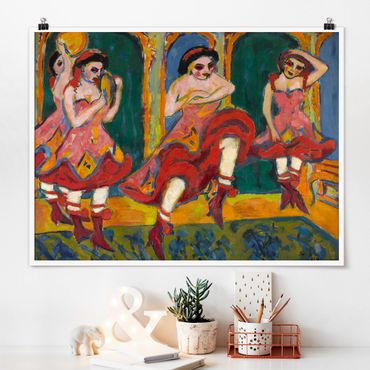 Poster - Ernst Ludwig Kirchner - Czardas Ballerini - Orizzontale 3:4
