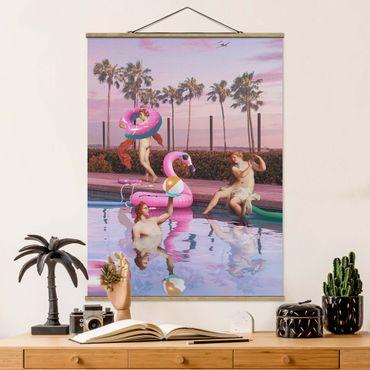 Foto su tessuto da parete con bastone - Pool Party - Verticale 4:3