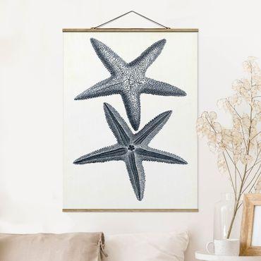 Foto su tessuto da parete con bastone - Flotsam In Navy II - Verticale 4:3