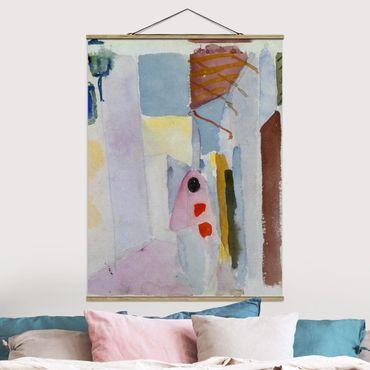 Foto su tessuto da parete con bastone - August Macke - la donna in strada - Verticale 4:3
