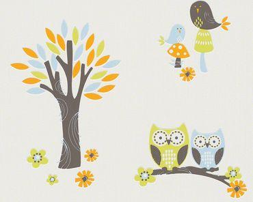 Carta da parati - Esprit Esprit Kids 5 Forest in Blu Arancione Bianco