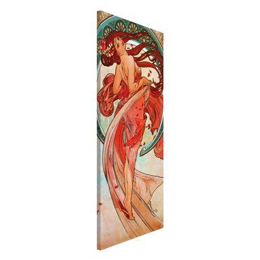 Lavagna magnetica - Alfons Mucha - Quattro arti - la danza - Panorama formato verticale