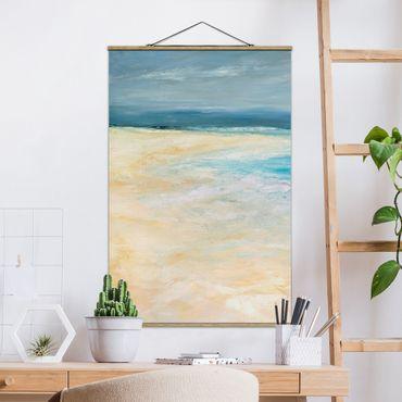 Foto su tessuto da parete con bastone - Tempesta sul mare I - Verticale 3:2