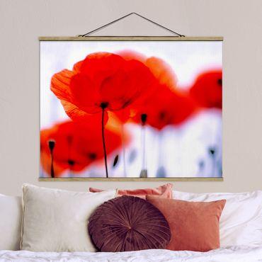Foto su tessuto da parete con bastone - Magia Poppies - Orizzontale 3:4