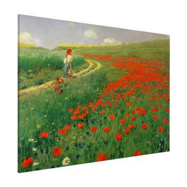 Lavagna magnetica - Pál Szinyei-Merse - Paesaggio estivo con una fioritura di papavero - Formato orizzontale 3:4