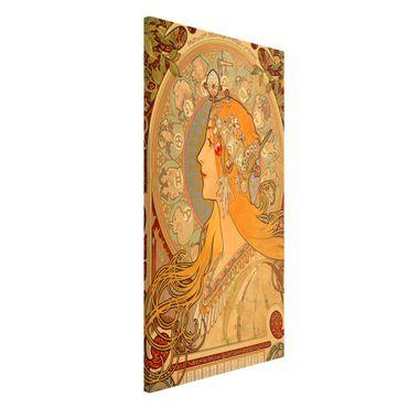 Lavagna magnetica - Alfons Mucha - Segni dello zodiaco - Formato verticale 4:3