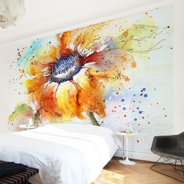 Carta da parati - Painted Sunflower