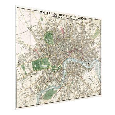 Stampa su Forex - Vintage Mappa Londra - Orizzontale 3:4
