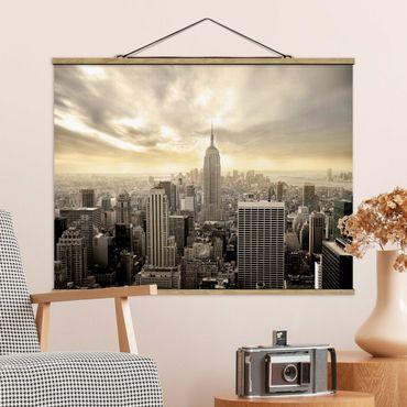 Foto su tessuto da parete con bastone - Manhattan Alba - Orizzontale 3:4