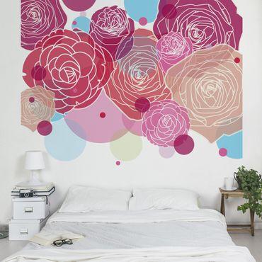 Carta da parati - Roses and Bubbles
