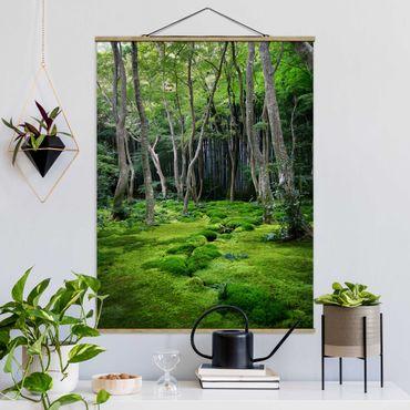 Foto su tessuto da parete con bastone - Alberi che crescono - Verticale 4:3