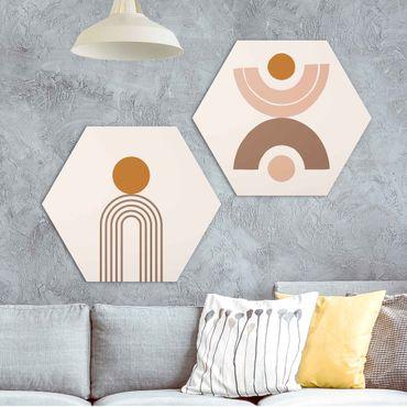 Esagono in Alu-dibond - Line Art Abstract Shapes Set I