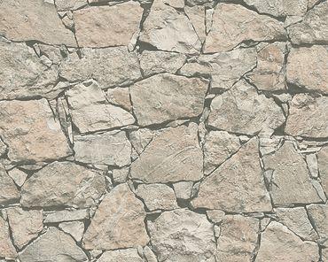 Carta da parati - A.S. Création Best of Wood`n Stone 2nd Edition in Beige Grigio Nero