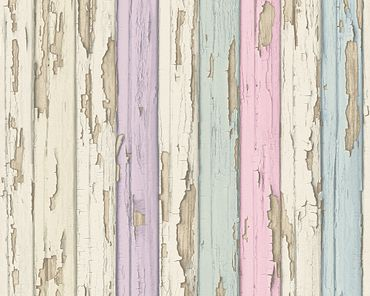 Carta da parati - A.S. Création Best of Wood`n Stone 2nd Edition in Beige Rosa Lilla