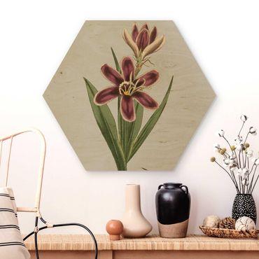 Esagono in legno - Gioielli II floreale