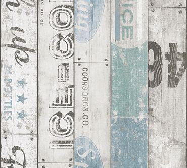 Carta da parati - A.S. Création Boys & Girls 6 in Beige Blu Grigio