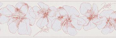 Carta da parati - Livingwalls Only Borders 9 in Rosa Bianco
