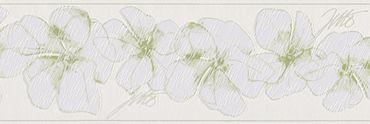 Carta da parati - Livingwalls Only Borders 9 in Verde Bianco