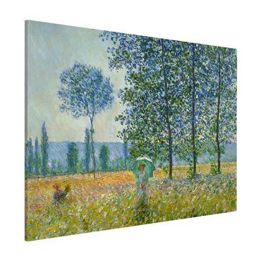 Lavagna magnetica - Claude Monet - campo in primavera - Formato orizzontale 3:4