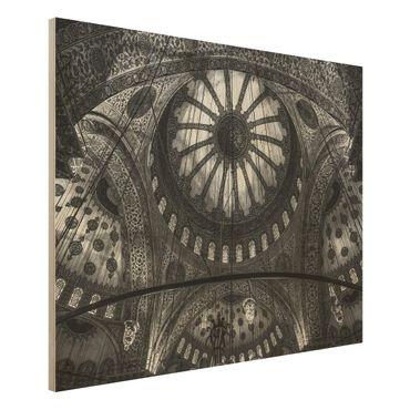 Quadro in legno - Le cupole della Moschea Blu - Orizzontale 4:3