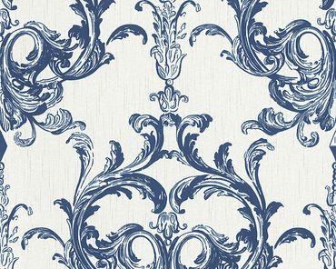 Carta da parati - Architects Paper Tessuto 2 in Blu Bianco