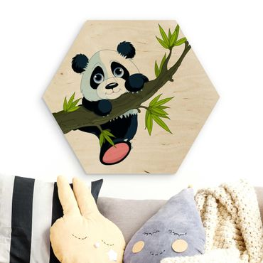 Esagono in legno - Climbing Panda